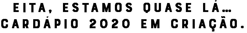 Cardápio 2020